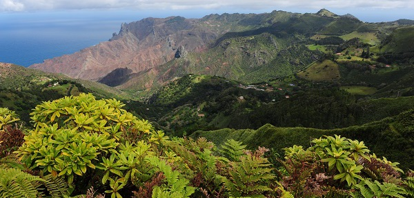 Sandy Bay from The Peaks - St Helena